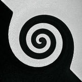 Abstract black and white background from curve swirl shapes Royalty Free Stock Photography