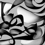 Abstract black and white background Royalty Free Stock Photography
