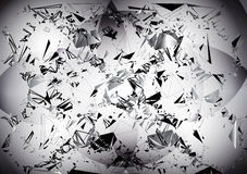 Abstract black and white background with geometric motifs. Abstract background with swirling particles Stock Illustration
