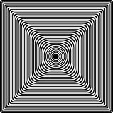 Abstract black and white background. Optical illusion of distorted surface. Geometric pattern. Abstract twisted black and white background. Optical illusion of vector illustration