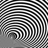 Abstract black and white background. Optical illusion of distorted surface. Twisted stripes. Abstract twisted black and white background. Optical illusion of vector illustration