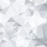 Abstract black and white background of polygonal Royalty Free Stock Image