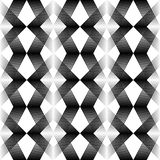 Abstract Black and White Background. Vector Geometric Gradient P. Seamless Oriental Ornament. Abstract Black and White Background. Vector Geometric Gradient Stock Illustration