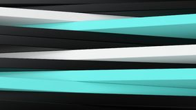 Abstract black, white and blue panels 3D background Stock Image