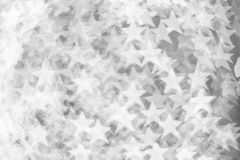 Abstract Black and White bokeh backround of happy new year or ch Royalty Free Stock Images