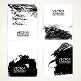 Abstract black and white brush texture banner set 2 Stock Image