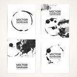 Abstract black and white brush texture banners Royalty Free Stock Photos