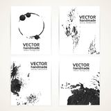 Abstract black and white brush texture hand drawing banners Stock Photography