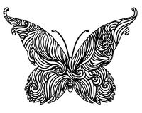 Abstract black and white butterfly design Royalty Free Stock Images