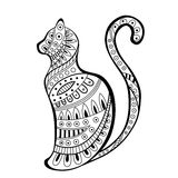 Abstract black white cat pattern illustration Royalty Free Stock Image