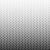 Abstract black and white color of circle shapes halftone pattern. Texture pixel Curved mosaic dotted background. Pop art template. Vector illustration Royalty Free Stock Images