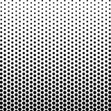 Abstract black and white color of circle shapes halftone pattern. Texture pixel Curved mosaic dotted background. Pop art template. Vector illustration Stock Photos