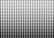 Abstract black and white color of geometric shapes halftone patt. Ern. Texture pixel Curved mosaic dotted background. Pop art template. Vector illustration stock illustration