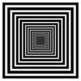 Abstract of black and white color square amaze background. Illustration vector eps10 Stock Photo