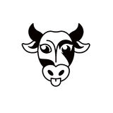 abstract black and white cow muzzle logo.  Stock Image