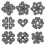Abstract black and white curly icons. Royalty Free Stock Photography