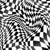 Abstract black and white curved grid background Royalty Free Stock Image