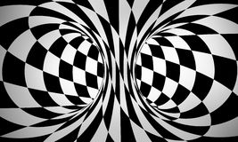 Abstract black and white 3d background Royalty Free Stock Photos
