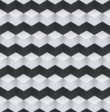 Abstract Black and White 3D Geometric Seamless Pattern. Vector Illustration. Cubic pattern Stock Illustration