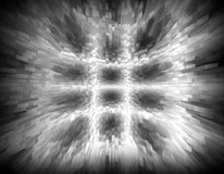 Abstract black and white 3d illustrtion background for design Stock Photography