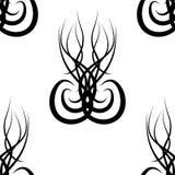 Black and white  damask seamless pattern Stock Photo