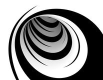 Abstract black and white design Stock Images