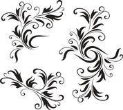 Abstract Black and White Design Pattern Royalty Free Stock Photography