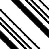 Black and White Diagonal Striped Seamless Pattern Stock Image