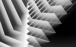 Abstract black and white digital background. Pattern of glowing stripes. 3d render illustration stock illustration