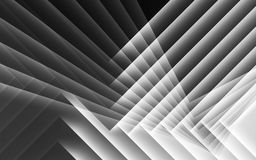Abstract black and white digital 3d pattern. Abstract black and white digital background, geometric pattern of glowing layers. 3d render illustration Stock Image