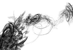 Abstract black and white drawing Royalty Free Stock Image