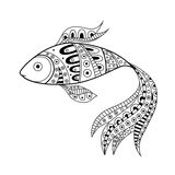 Abstract black white fish pattern illustration Royalty Free Stock Images