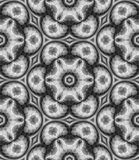Abstract black and white floral pattern, Gray mosaic tile texture background, Seamless illustration Stock Photography