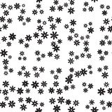 Abstract black and white floral pattern. Vector seamless illustration. Stock Photos