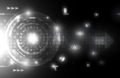 Abstract black and white future technology concept backgroundAbstract black and white future technology concept background Royalty Free Stock Image