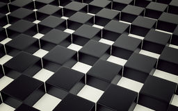 Abstract black and white geometric background. 3D render. Ing vector illustration