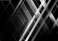 Abstract black and white geometric concept background Royalty Free Stock Photos