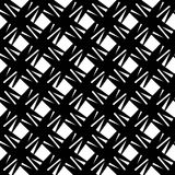 Abstract black and white geometric pattern. Seamlessly repeatabl Royalty Free Stock Photo