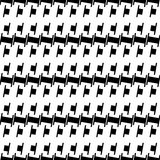 Abstract black and white geometric pattern. Seamlessly repeatabl Royalty Free Stock Photos