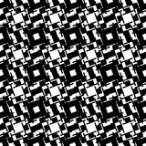Abstract black and white geometric pattern. Seamlessly repeatabl Stock Photography