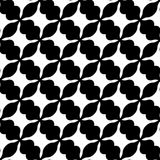 Abstract black and white geometric pattern. Seamlessly repeatabl Stock Photo