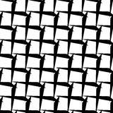 Abstract black and white geometric pattern. Seamlessly repeatabl Royalty Free Stock Images