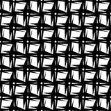 Abstract black and white geometric pattern. Seamlessly repeatabl Royalty Free Stock Photography