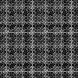 Abstract black and white geometric seamless pattern. Stock Image