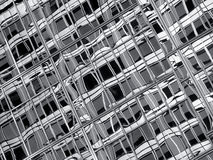 Abstract black and white glass Stock Images