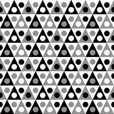 Monochrome Triangles and Dots Seamless Texture Royalty Free Stock Photography