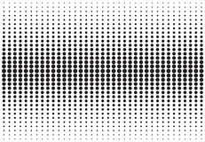 Abstract black and white halftone texture dots pattern.  Royalty Free Stock Photography