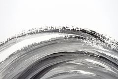 Abstract black and white hand painted background Royalty Free Stock Photo
