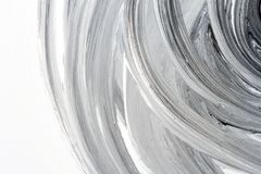 Abstract black and white hand painted background. Abstract brushed black and white hand painted acrylic background, creative abstract hand painted background Royalty Free Stock Images