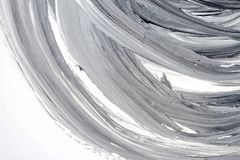 Abstract black and white hand painted background. Abstract brushed black and white hand painted acrylic background, creative abstract hand painted background Royalty Free Stock Photos